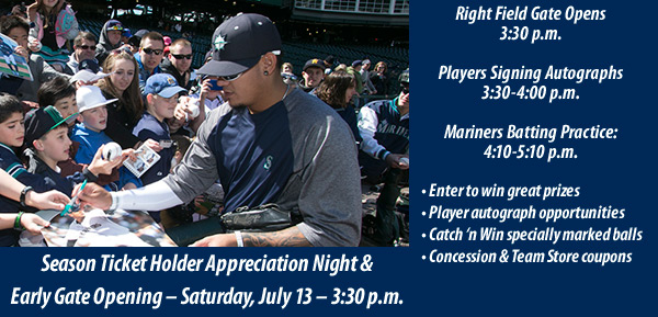 Season Ticket Holder Appreciation Night & Special Early Gate Opening - Saturday, July 13th