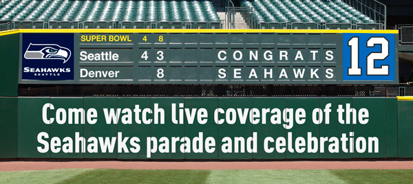 Seahawks Welcome Home Celebration � Safeco Field Overflow Viewing