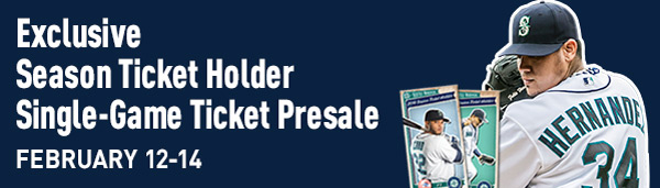 Exclusive Single-Game Ticket Presale - Tomorrow through Friday