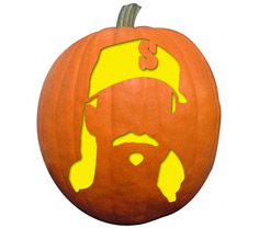 Randy Johnson Pumpkin Stencil
