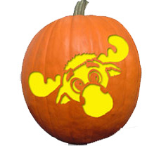 Mariners Moose Pumpkin Stencil