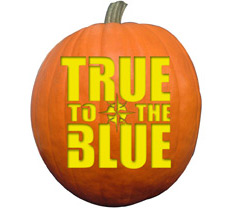 True to the Blue Logo Pumpkin Stencil