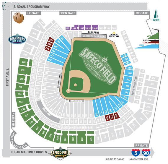 2013 Season Ticket Seating Chart and Pricing