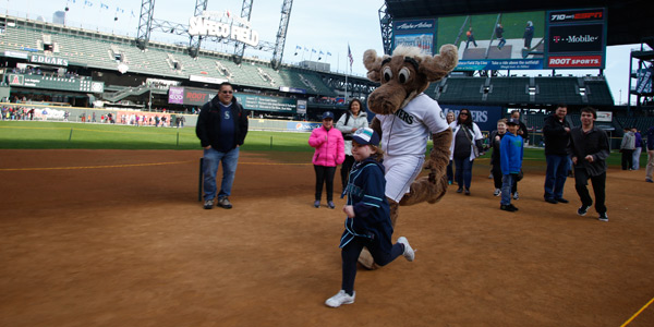 Be the first in line to run the bases with the Mariner Moose