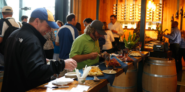 Wine Tasting Event in the First Base Vine