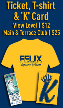 Free King Felix T-shirt & 'K' card.