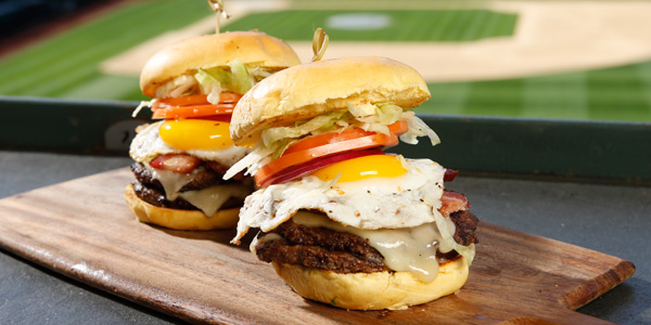 We hope you brought your appetite for the new Bacon & Egg Burger with TWO patties
