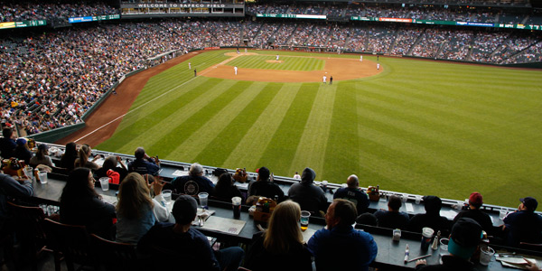 Enjoy the view and an evening of Mariners baseball in the Hit it Here Café