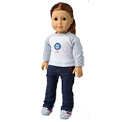 American Girl Doll size Mariner T-shirt