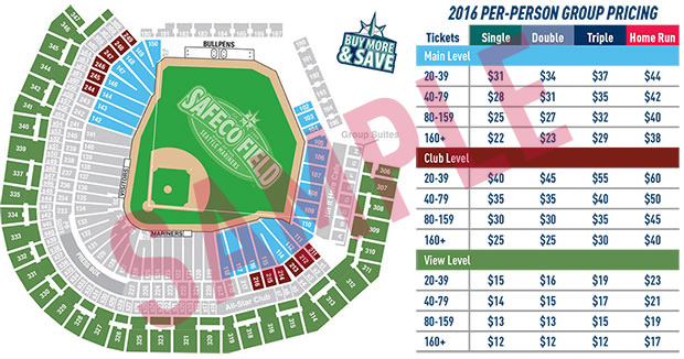 Group Seating Map & Pricing
