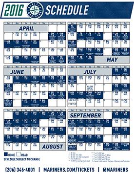 Printable Schedule | Seattle Mariners
