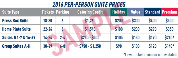 Suite Pricing