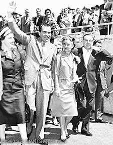 Vice President Richard Nixon was on hand for the opening of Candlestick Park.