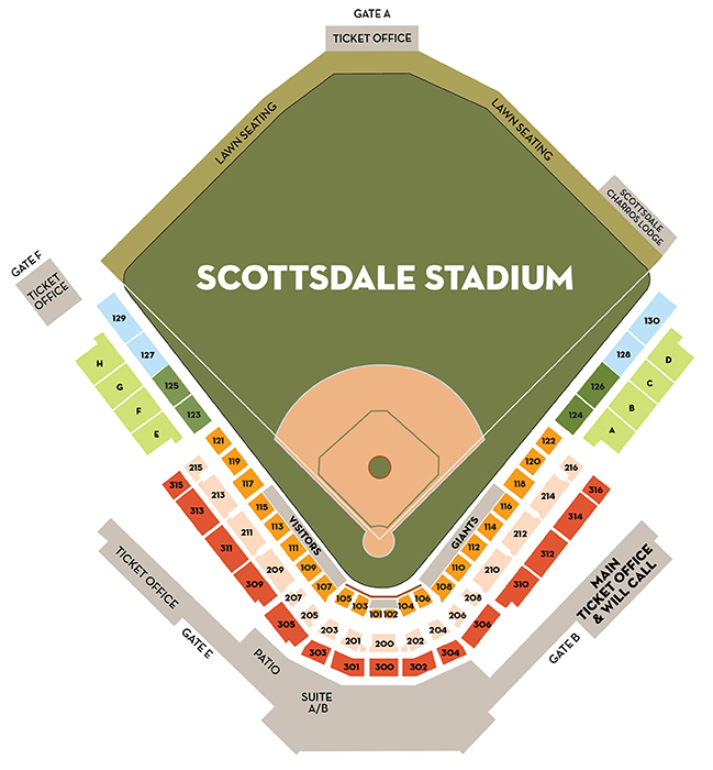 Scottsdale Stadium Seating Chart
