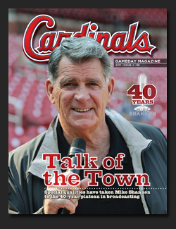 Order a copy of the Cardinals Magazine Talk of the Town, saluting Mike's 40 seasons in the booth.
