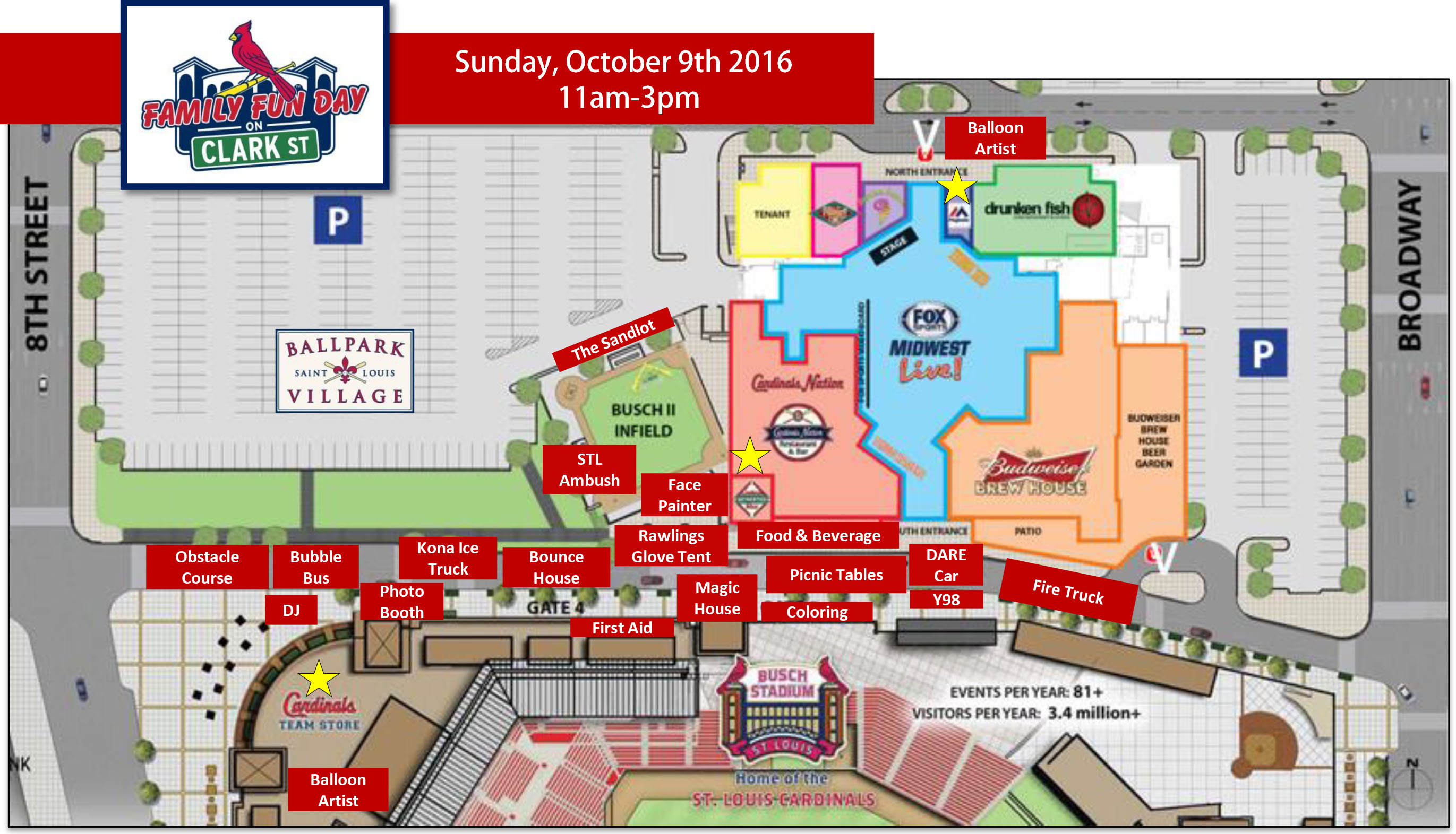 family fun day map of activities. family fun day on clark street  mlbcom