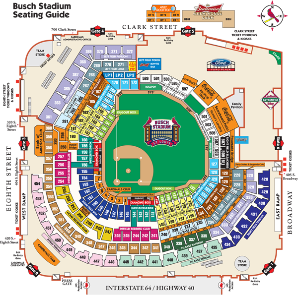 Busch Stadium Seating Map Mlb Com