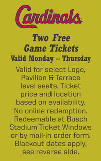 TWO FREE GAME TICKETS