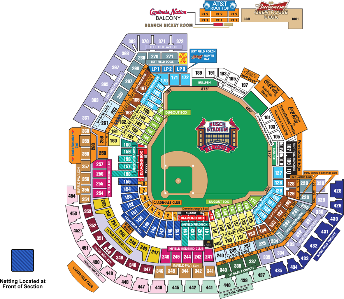 ADA Information Cardinalscom Ballpark Information - Us cellular field seating map
