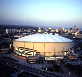 Tropicana Field at Night