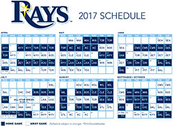 Rays Printable Schedule