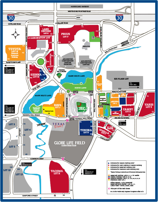 Parking Map: Events at AT&T Stadium