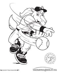 Rangers Captain Coloring Page 1