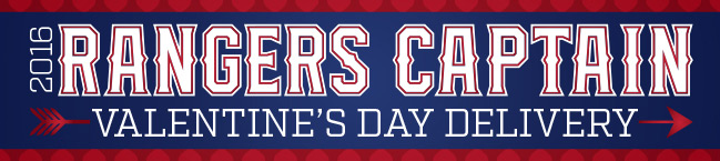 Between Feb. 11-14, Rangers Captain, the official mascot of the Texas Rangers, will deliver a message of your love to your special baseball fan.