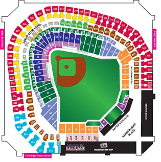Rangers Ballpark Seating Map