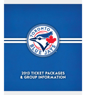 2013 Blue Jays Ticket Packages brochure