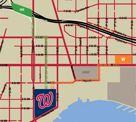 Nationals Economy Parking Map