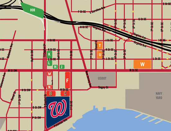 Nationals Parking Map