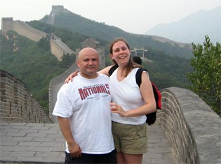 James and Ann C. at the Great Wall of China