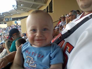 Mighty Max's first Nats Game in Lakeland, FL