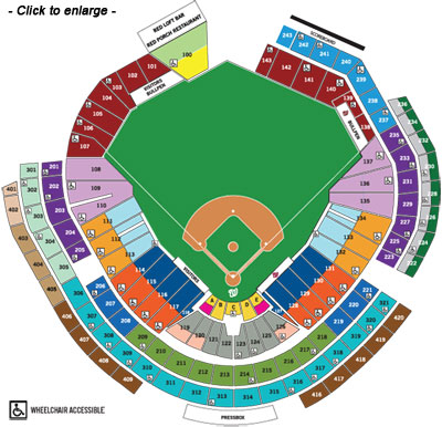 Nationals Park Seating Map